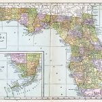 Large Detailed Old Administrative Map Of Florida With All Cities   Old Florida Road Maps