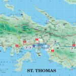 Large Detailed Road And Tourist Map Of St. Thomas U.s. Virgin   Printable Map Of St John Usvi