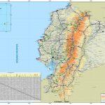 Large Detailed Road Map Of Ecuador   Printable Map Of Ecuador