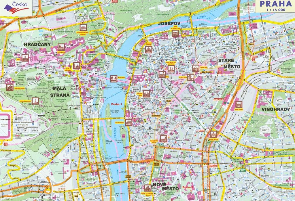 Large Detailed Road Map Of Prague City. Prague City Large Detailed - Printable Map Of Prague