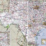 Large Detailed Roads And Highways Map Of Texas State With All Cities   Map Of Texas Roads And Cities