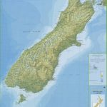 Large Detailed South Island New Zealand Map   New Zealand South Island Map Printable