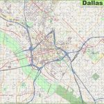 Large Detailed Street Map Of Dallas   Printable Map Of Dallas