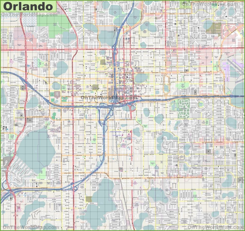 Large Detailed Street Map Of Orlando - Street Map Of Orlando Florida