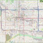 Large Detailed Street Map Of Phoenix   Printable Map Of Phoenix