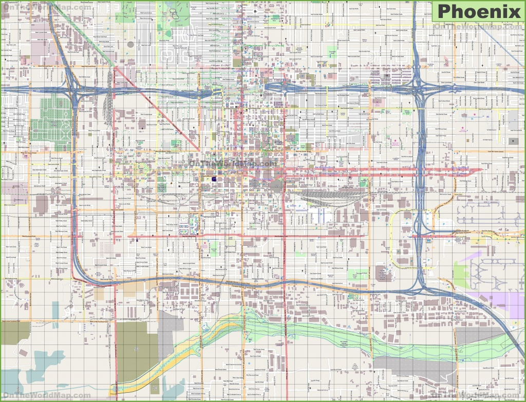 Large Detailed Street Map Of Phoenix - Printable Map Of Phoenix