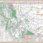 Large Detailed Tourist Map Of Montana With Cities And Towns   Printable Map Of Montana