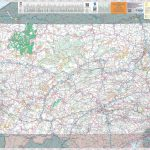 Large Detailed Tourist Map Of Pennsylvania With Cities And Towns   Printable Road Map Of Pennsylvania