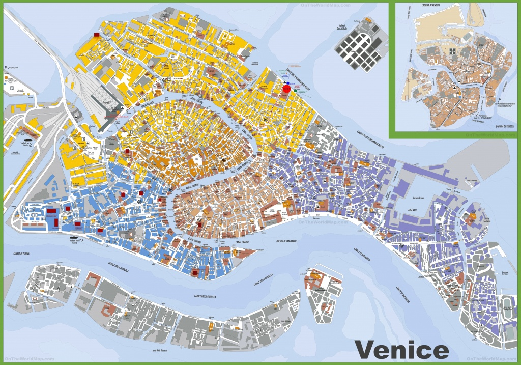 Large Detailed Tourist Map Of Venice - Venice City Map Printable