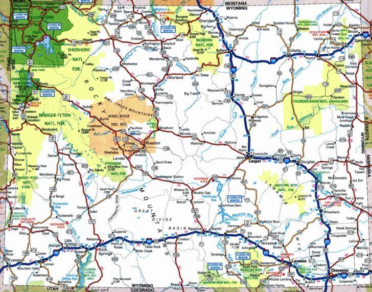 Printable Road Map Of Wyoming