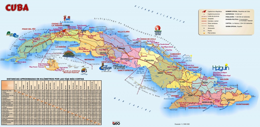Large Detailed Travel Map Of Cuba - Printable Outline Map Of Cuba