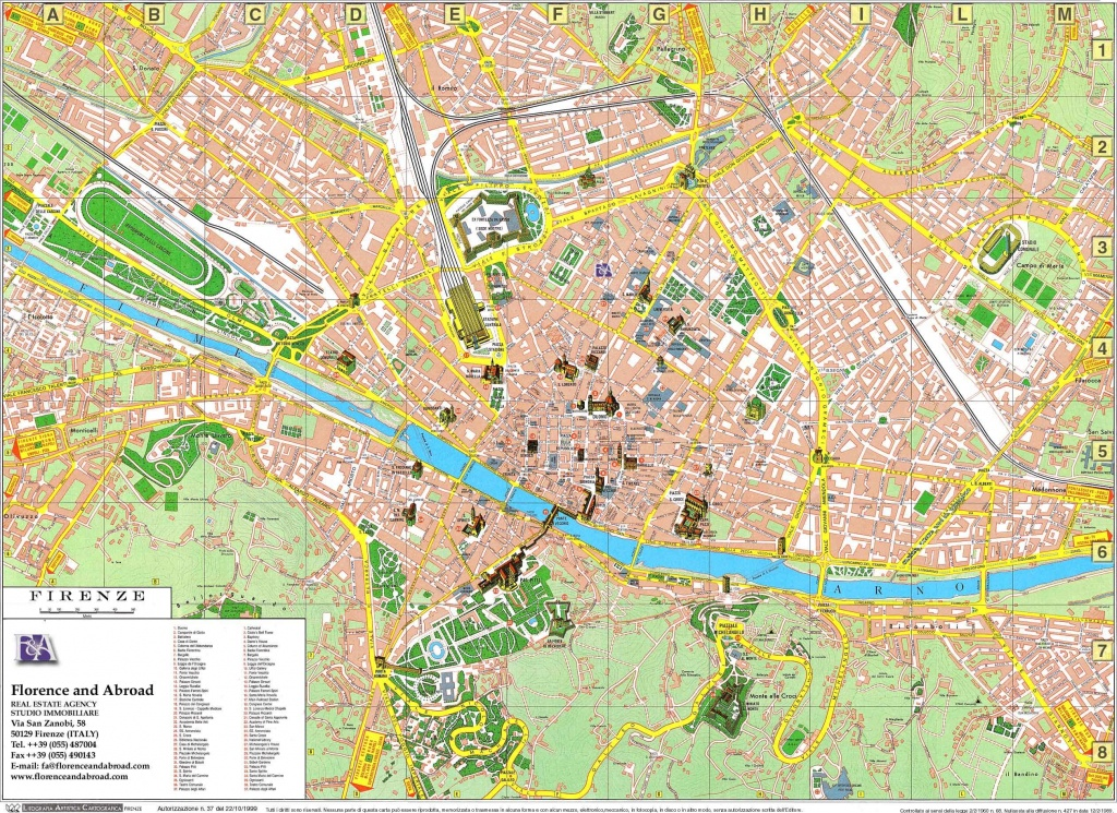 Large Florence Maps For Free Download And Print   High-Resolution - Florence Tourist Map Printable