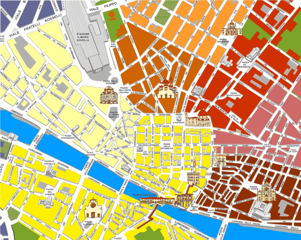 Large Florence Maps For Free Download And Print | High-Resolution - Printable Street Map Of Florence Italy