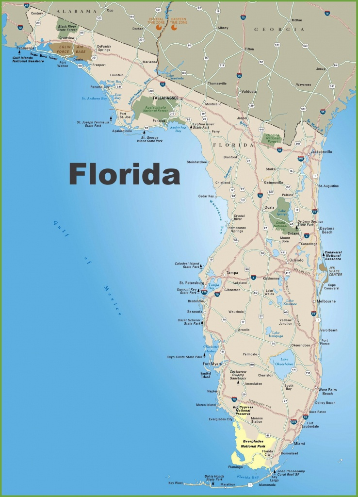 Large Florida Maps For Free Download And Print | High-Resolution And - Map Of Florida West Coast Towns