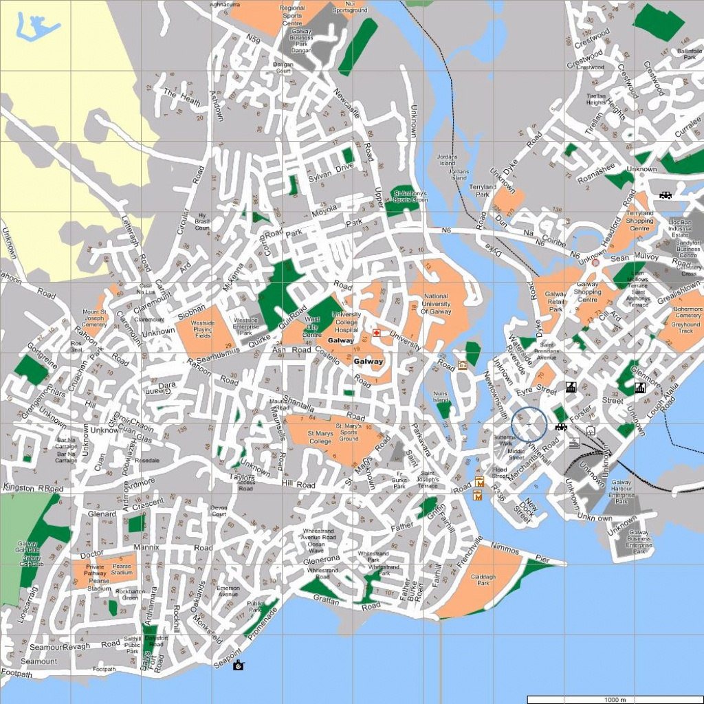 Large Galway Maps For Free Download And Print   High-Resolution And - Galway City Map Printable