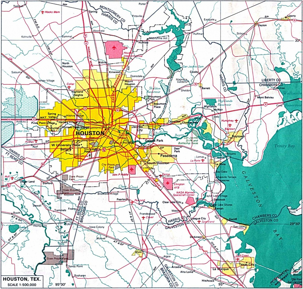 Large Houston Maps For Free Download And Print | High-Resolution And - Downtown Houston Map Printable