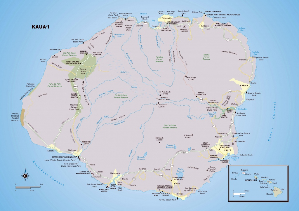 Large Kauai Island Maps For Free Download And Print | High - Printable Map Of Kauai