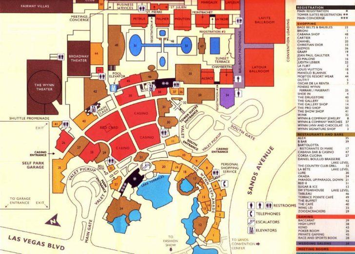 Printable Map Of Vegas Strip