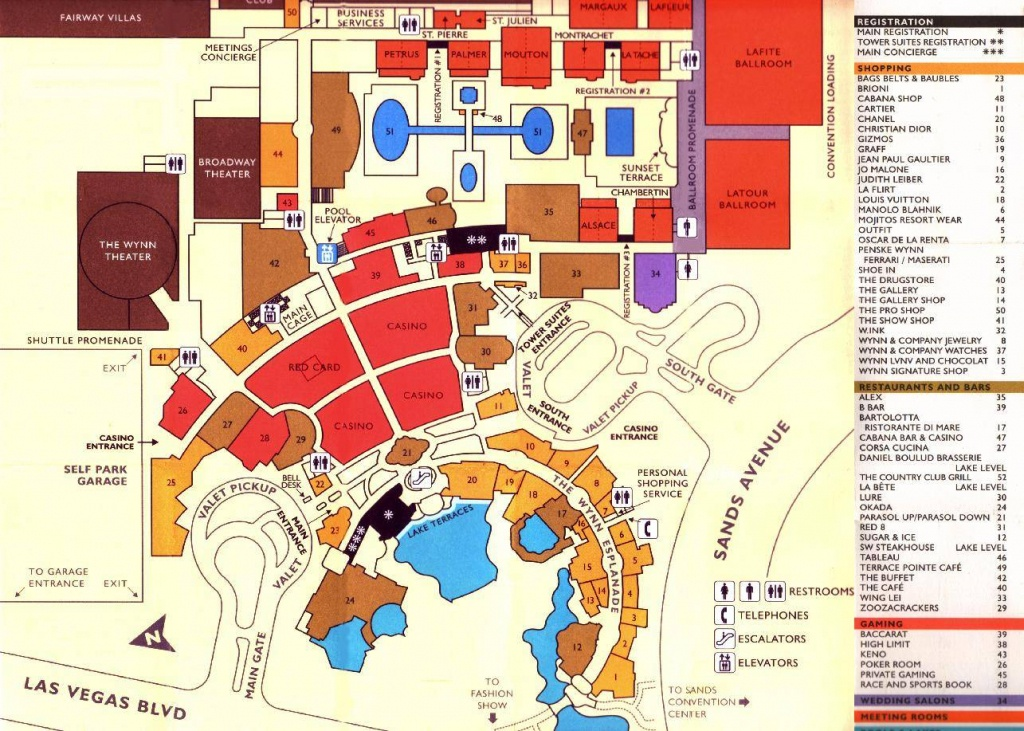 Large Las Vegas Maps For Free Download And Print | High-Resolution - Printable Map Of Vegas Strip