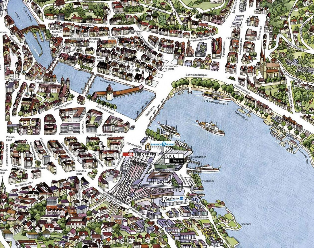 Large Luzern Maps For Free Download And Print | High-Resolution And - Printable Tourist Map Of Lucerne