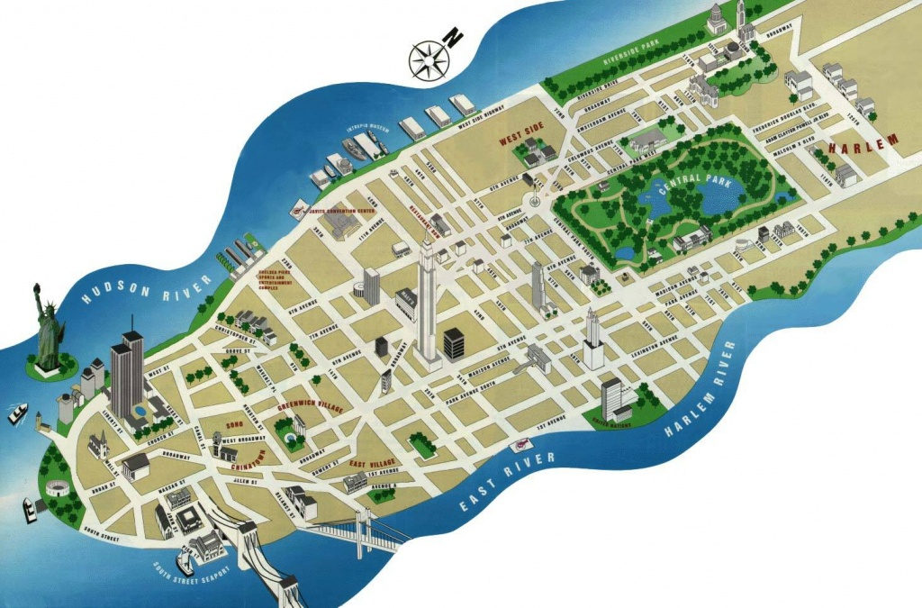 Large Manhattan Maps For Free Download And Print   High-Resolution - Printable Map Of Manhattan