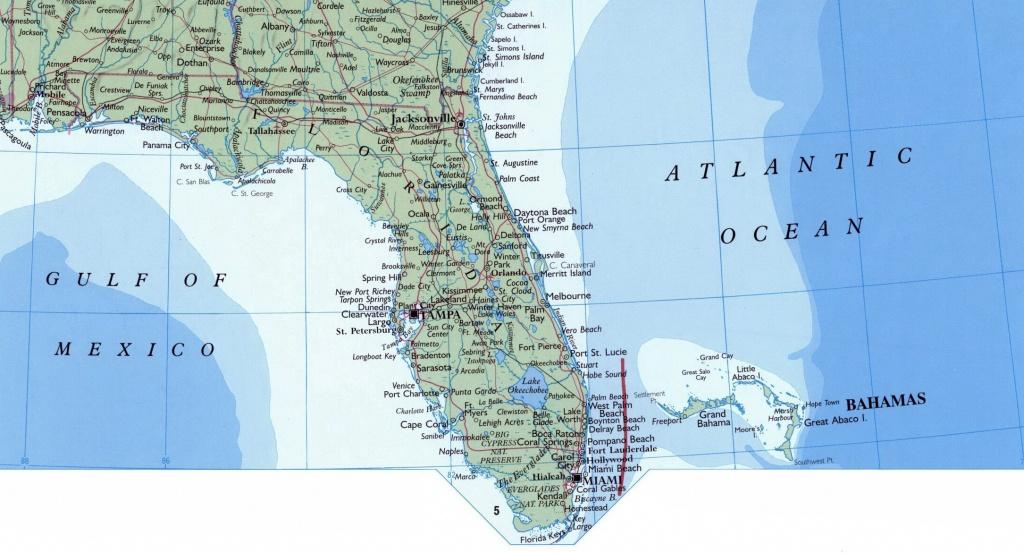 Large Map Of Florida State. Florida State Large Map   Vidiani - Florida Ocean Map