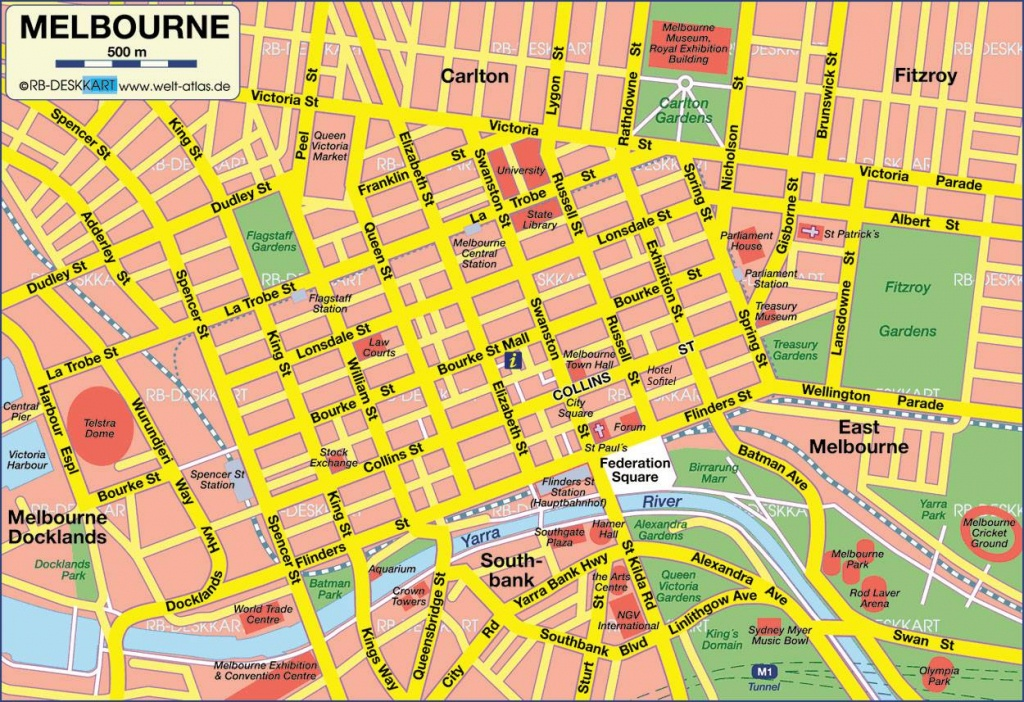 Large Melbourne Maps For Free Download And Print   High-Resolution - Printable Map Of Melbourne