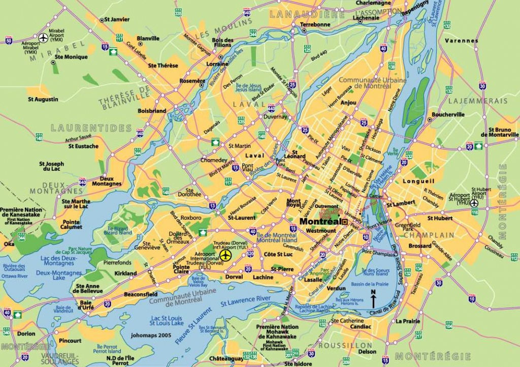 Large Montreal Maps For Free Download And Print | High-Resolution - Printable Street Map Of Montreal