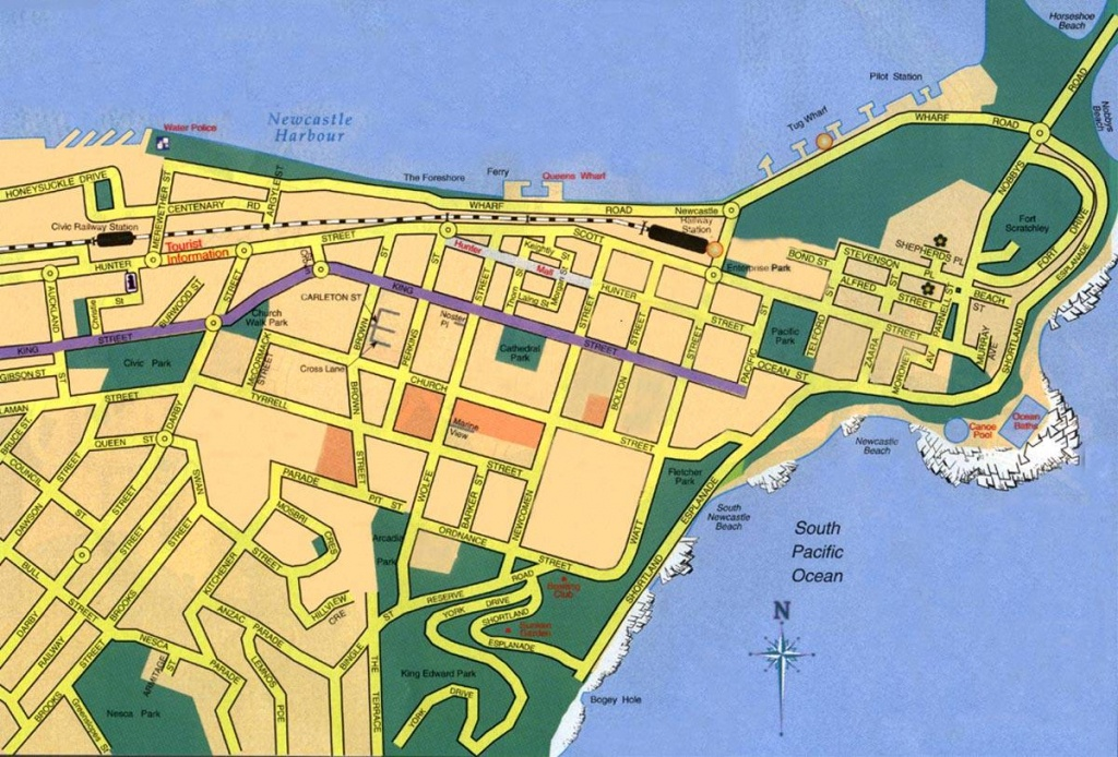 Large Newcastle Maps For Free Download And Print   High-Resolution - Printable Map Of Newcastle Nsw