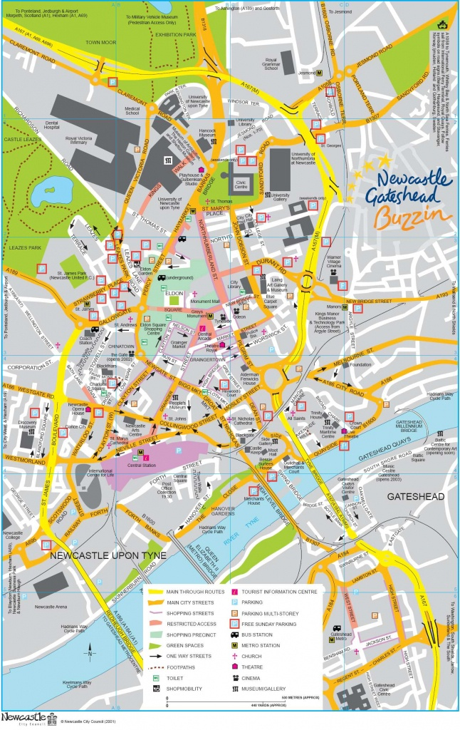 Large Newcastle Maps For Free Download And Print | High-Resolution - Printable Street Map Of Harrogate Town Centre