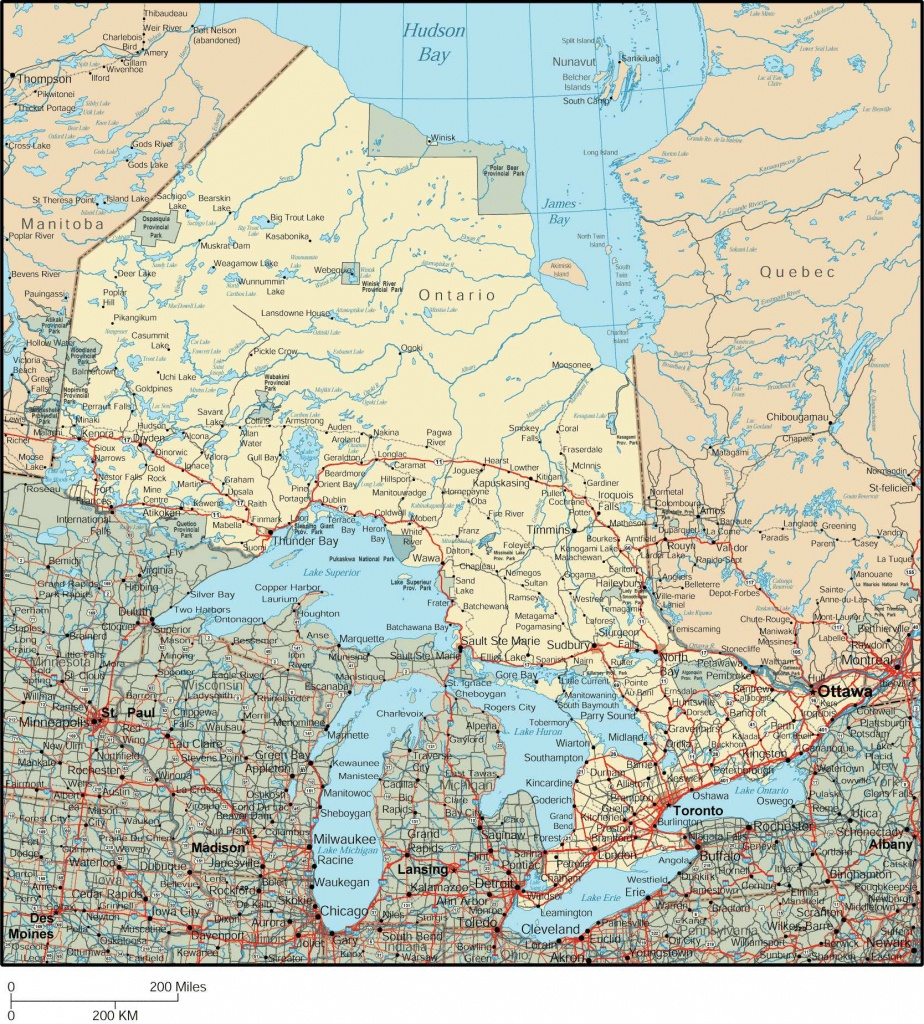 Large Ontario Town Maps For Free Download And Print | High - Printable Map Of Ontario