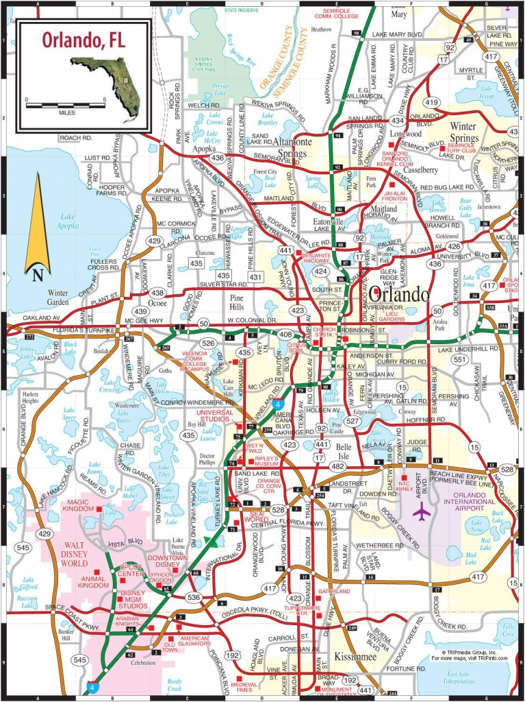 Large Orlando Maps For Free Download And Print | High-Resolution And - Road Map To Orlando Florida