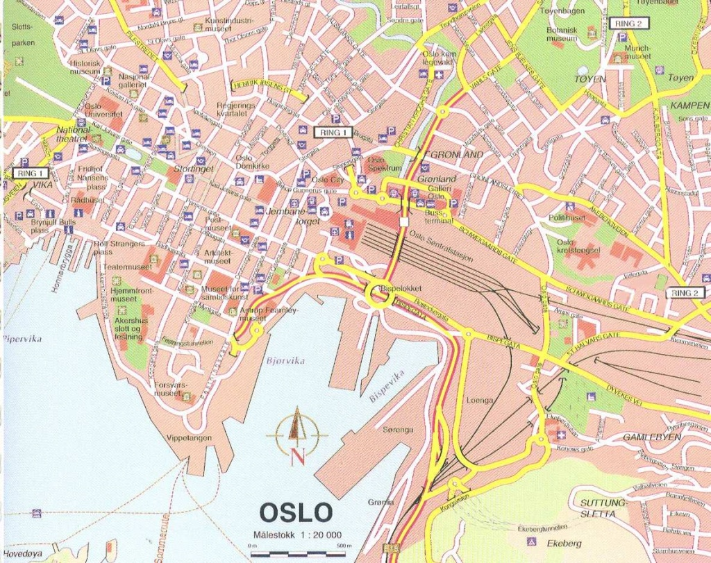 Large Oslo Maps For Free Download And Print | High-Resolution And - Oslo Tourist Map Printable