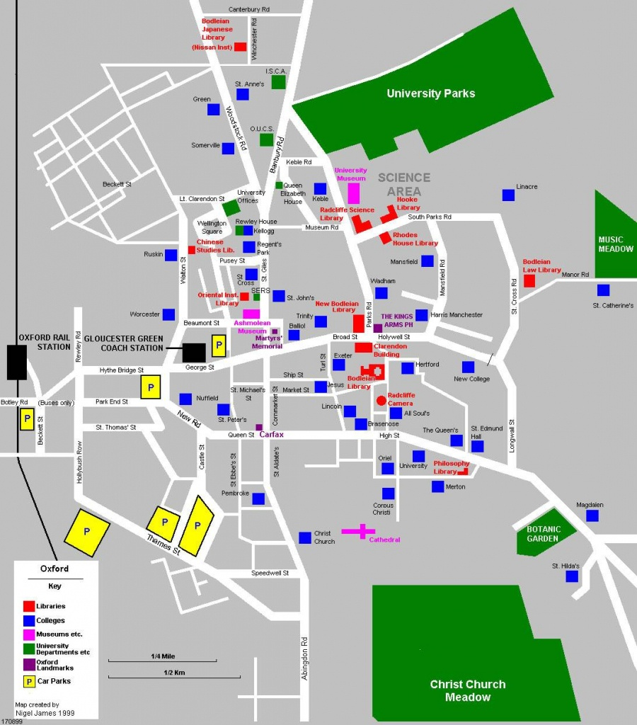 Large Oxford Maps For Free Download And Print | High-Resolution And - Printable Map Of Oxford