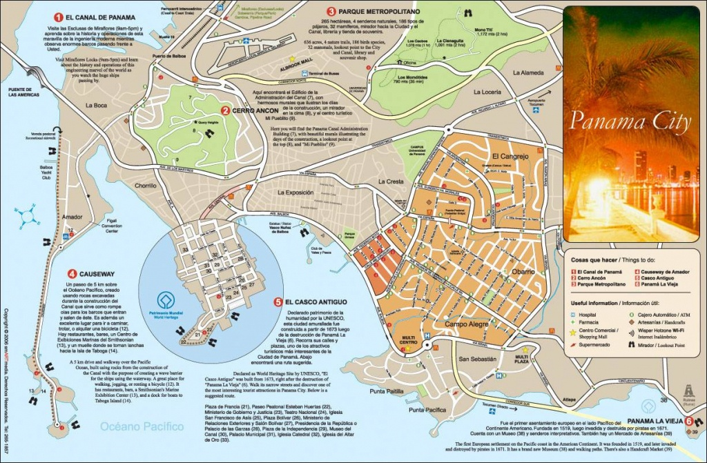 Large Panama City Maps For Free Download And Print   High-Resolution - Printable Map Of Panama