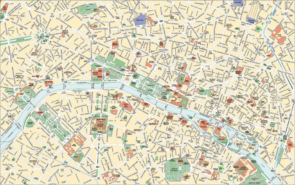 Large Paris Maps For Free Download And Print | High-Resolution And - Street Map Of Paris France Printable