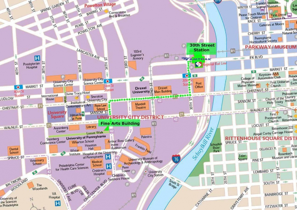 Large Philadelphia Maps For Free Download And Print   High - Printable Map Of Philadelphia Attractions