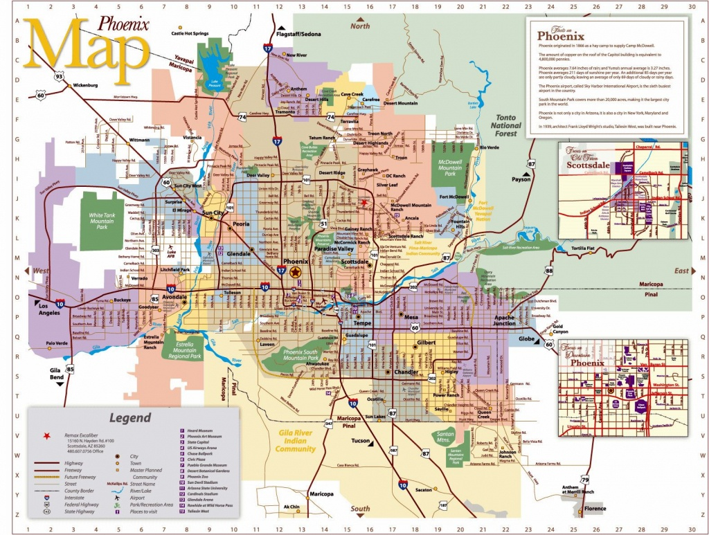 Large Phoenix Maps For Free Download And Print | High-Resolution And - Printable Area Maps