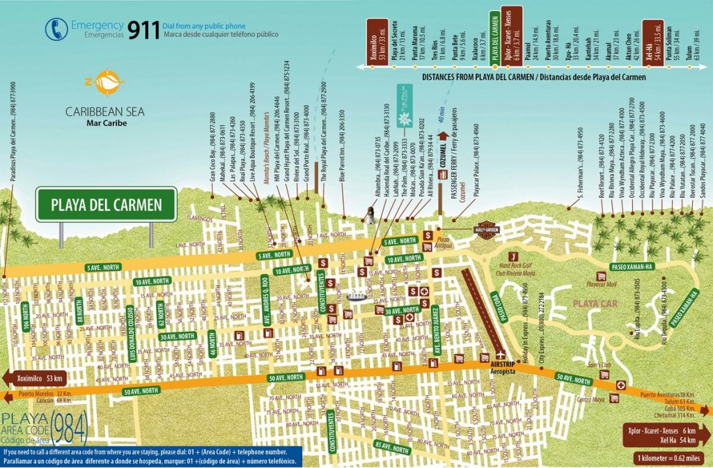 Large Playa Del Carmen Maps For Free Download And Print | High - Printable Map Of Playa Del Carmen