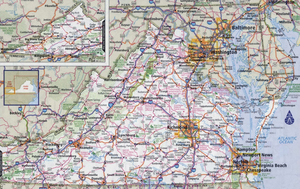 Large Printable Map Of Virginia – Orek - Large Printable Map