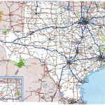 Large Roads And Highways Map Of Texas State With National Parks And   Map Of Texas Roads And Cities