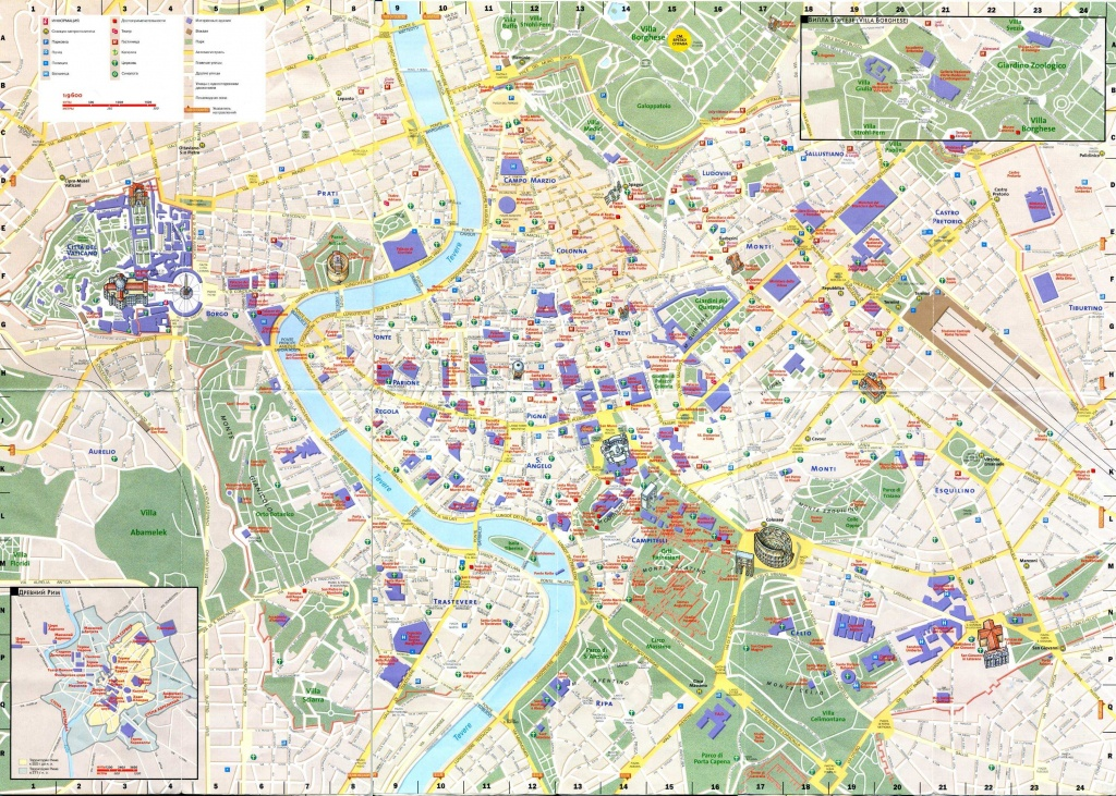 Large Rome Maps For Free Download And Print | High-Resolution And - Printable Street Map Of Sorrento Italy