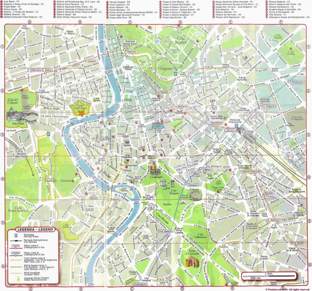 Large Rome Maps For Free Download And Print | High-Resolution And - Printable Street Maps Free