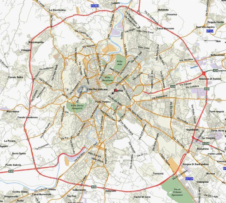 Street Map Rome City Centre Printable