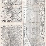 Large Scaled Printable Old Street Map Of Manhattan, New York City   Manhattan City Map Printable