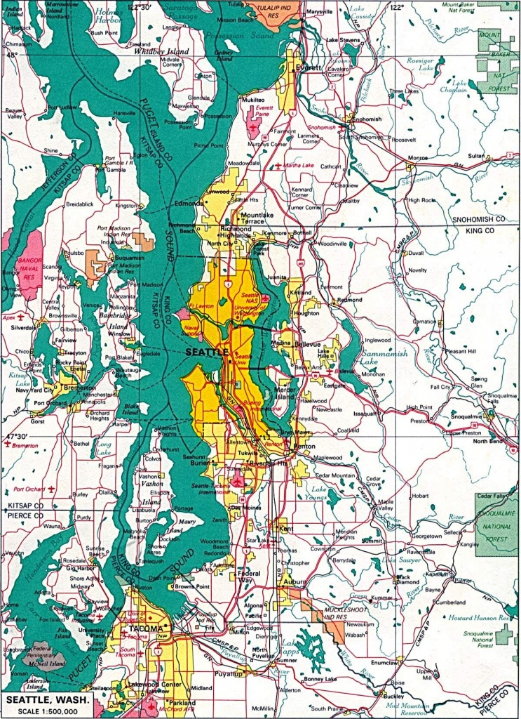 Large Seattle Maps For Free Download And Print | High-Resolution And - Printable Map Of Seattle Area
