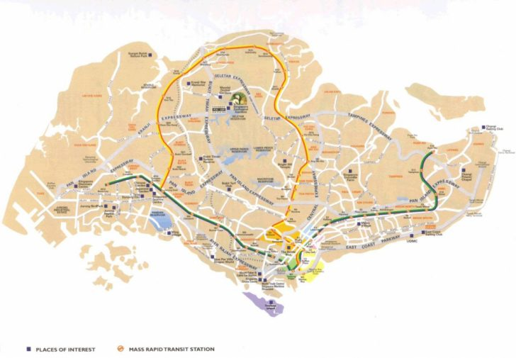 Singapore City Map Printable