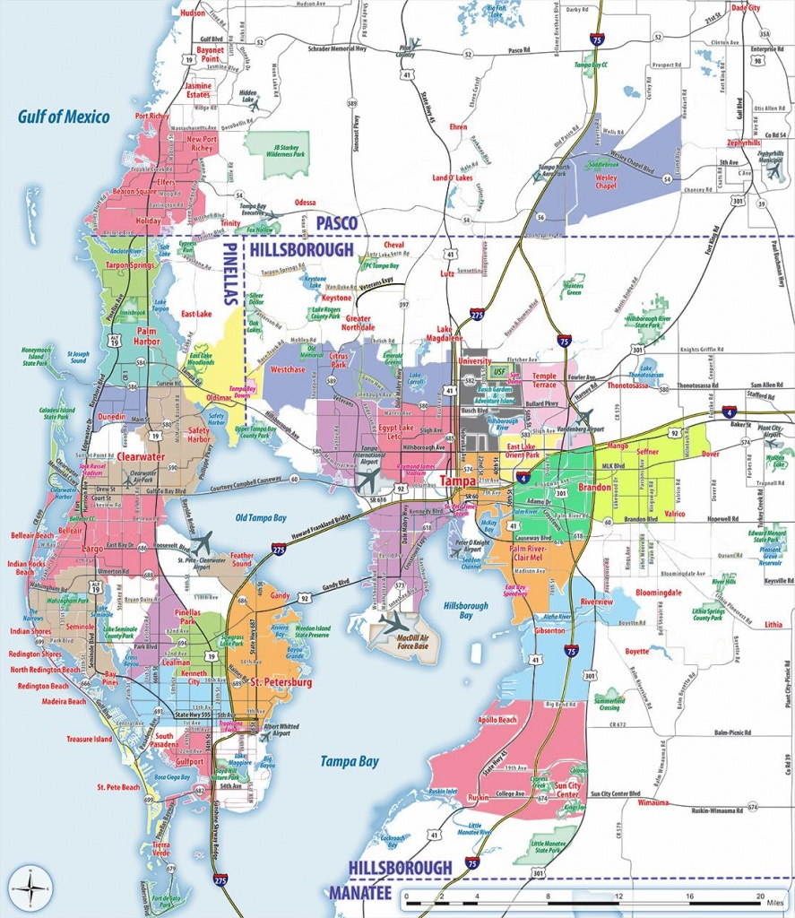 Large Tampa Maps For Free Download And Print | High-Resolution And - Street Map Of Tampa Florida