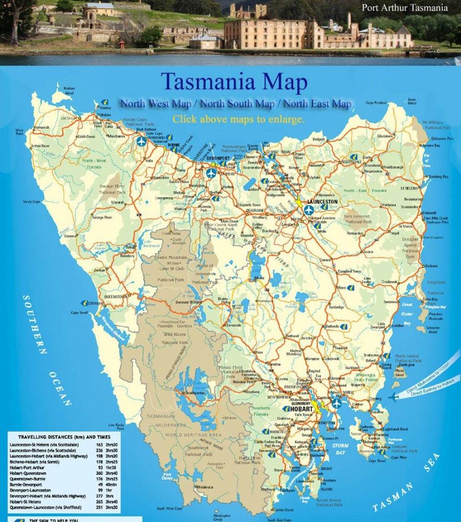 Large Tasmania Maps For Free Download And Print   High-Resolution - Printable Map Of Tasmania