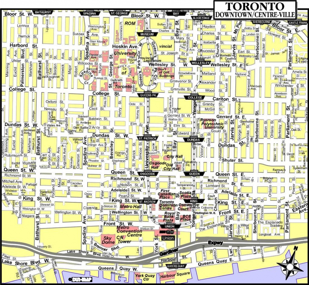 Large Toronto Maps For Free Download And Print | High-Resolution And - Printable Map Of Toronto